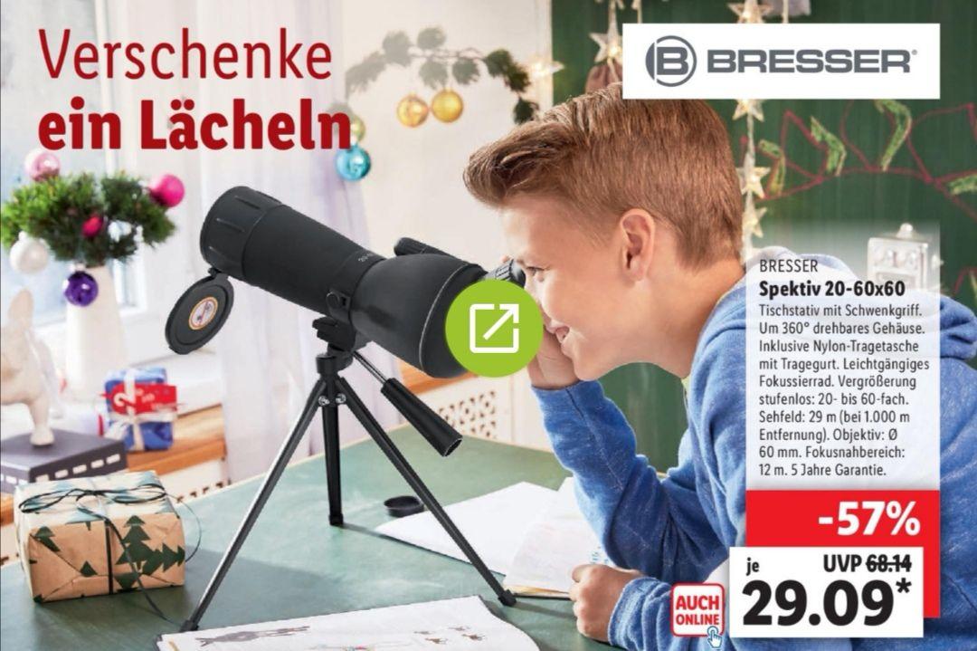 BRESSER Spektiv mit Stativ 20-60x60 bei Lidl