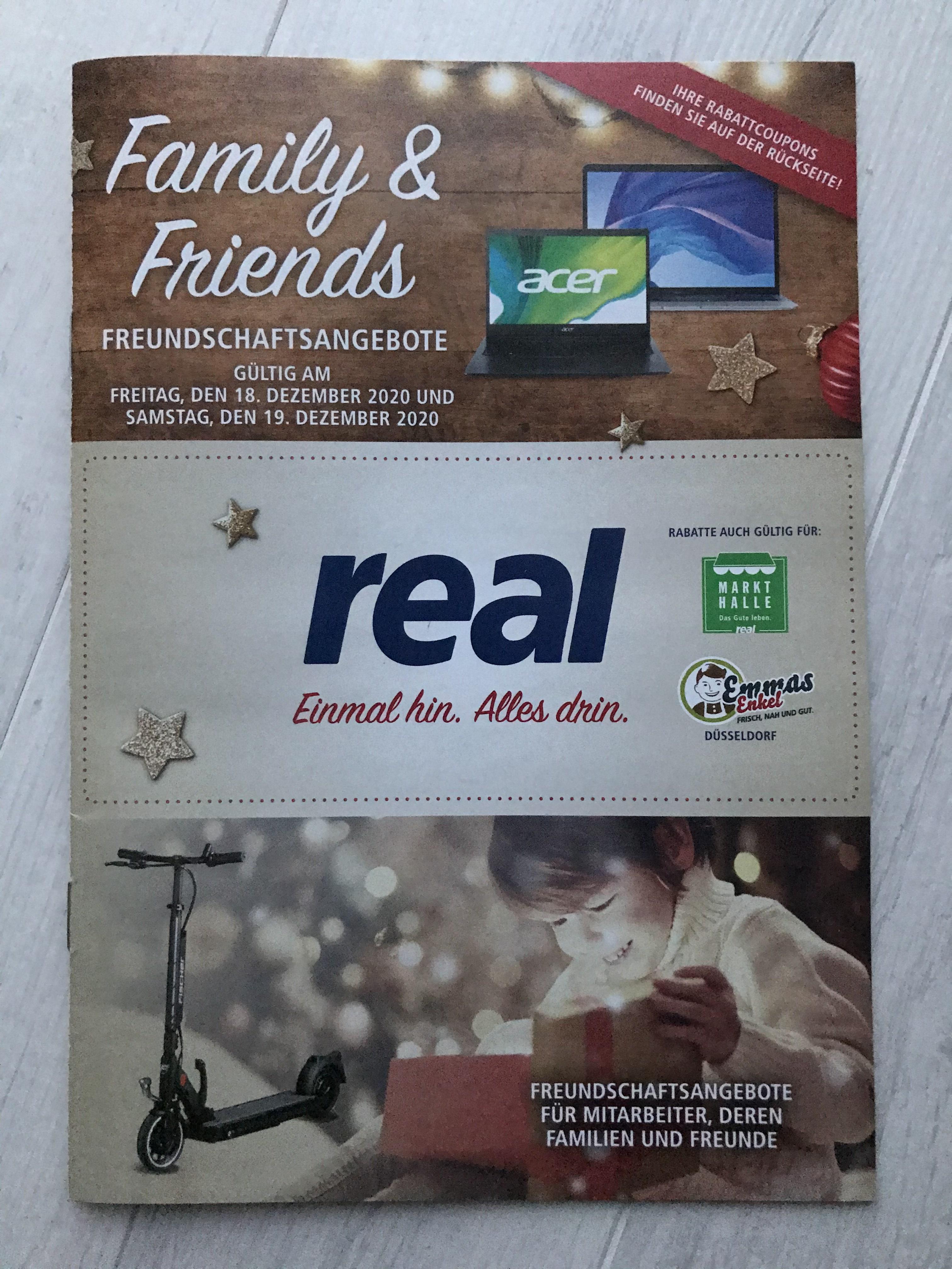 [REAL] Family & Friends für die Rabatt-Aktionstage 16.12.2020 bis 19.12.2020