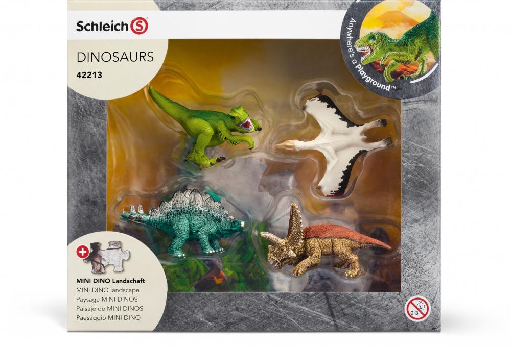Schleich Mini Dinos - Entdeckerzone (Puzzle & 4 Dinos) (duo-shop)