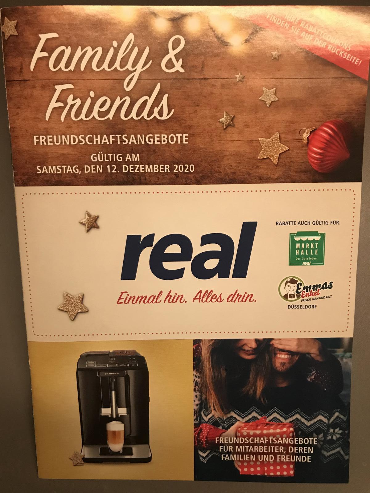[REAL] Family & Friends für den Rabatt-Aktionstag am Samstag, den 12.12.2020