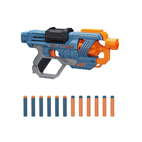 Nerf Elite 2.0 Commander RD-6 Blaster, 12 Nerf Darts, 6-Dart Rotationstrommel (Prime)