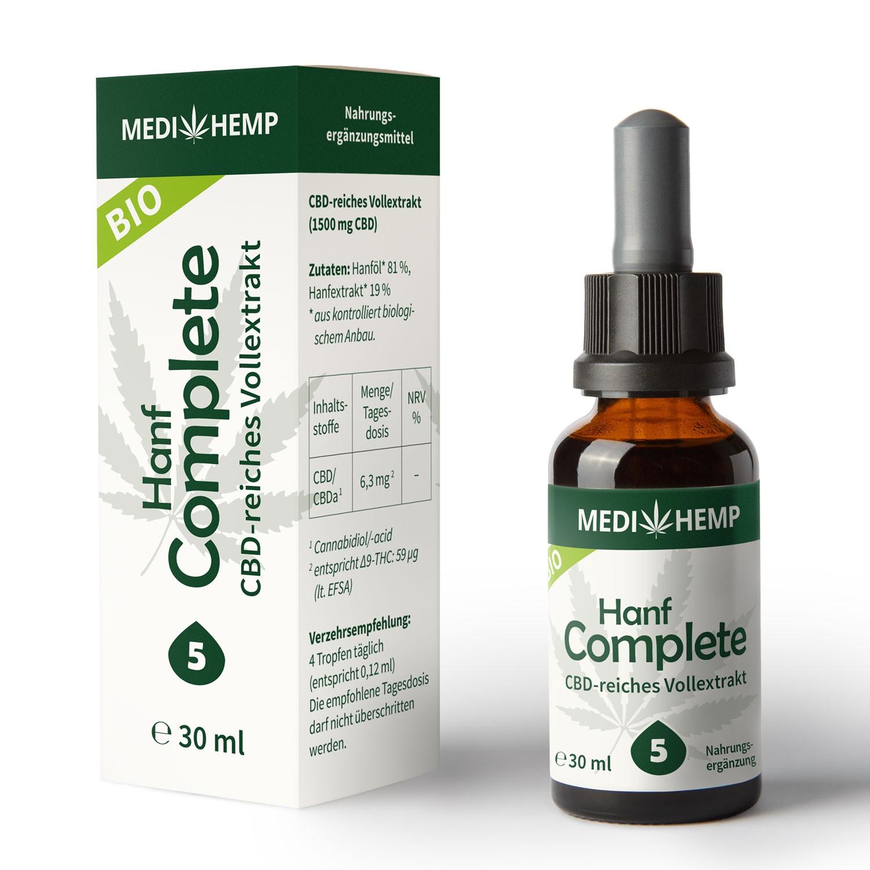 Bio CBD Öl von Medihemp große Flasche 30ml