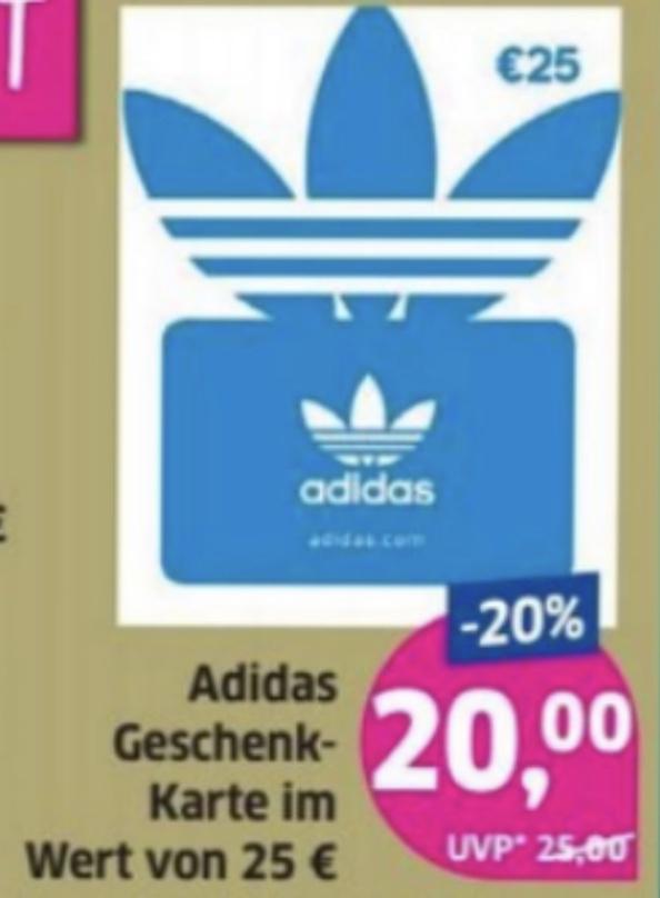 Lokal Budni: 20% Rabatt auf Adidas Geschenkkarten (25€) / 15% Rabatt auf Hunkemöller Geschenkkarten (25€)