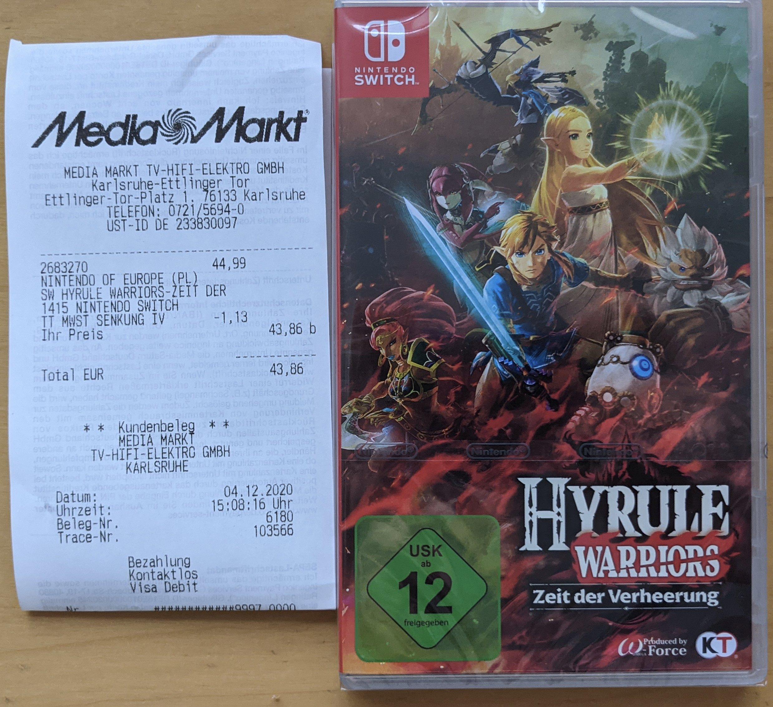 [lokal] Hyrule Warriors - Zeit der Verheerung @ Media Markt Karlsruhe Ettlinger Tor Center