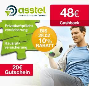 [Qipu]: Asstel Privathaftpflicht-Versicherung günstig oder sogar kostenlos plus 20 € Bestchoice-Gutschein