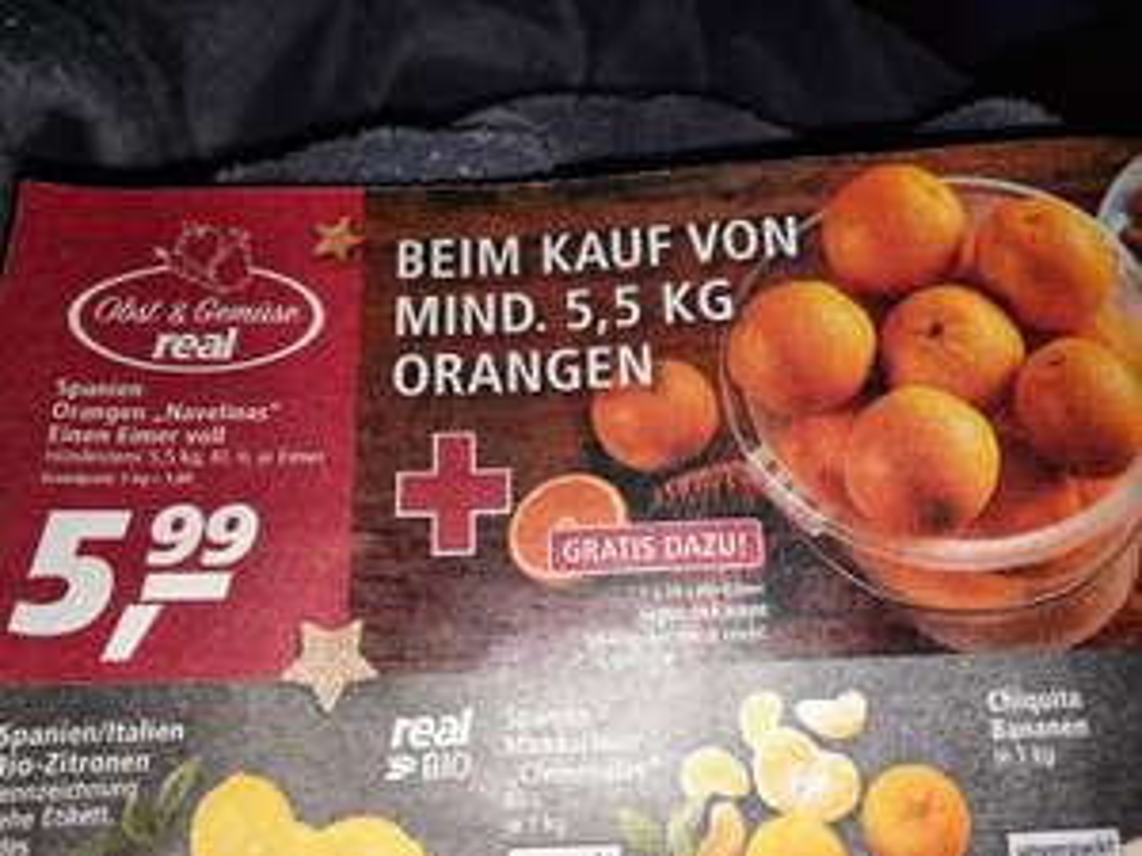 [Real] Selbst befüllter Eimer voll Orangen