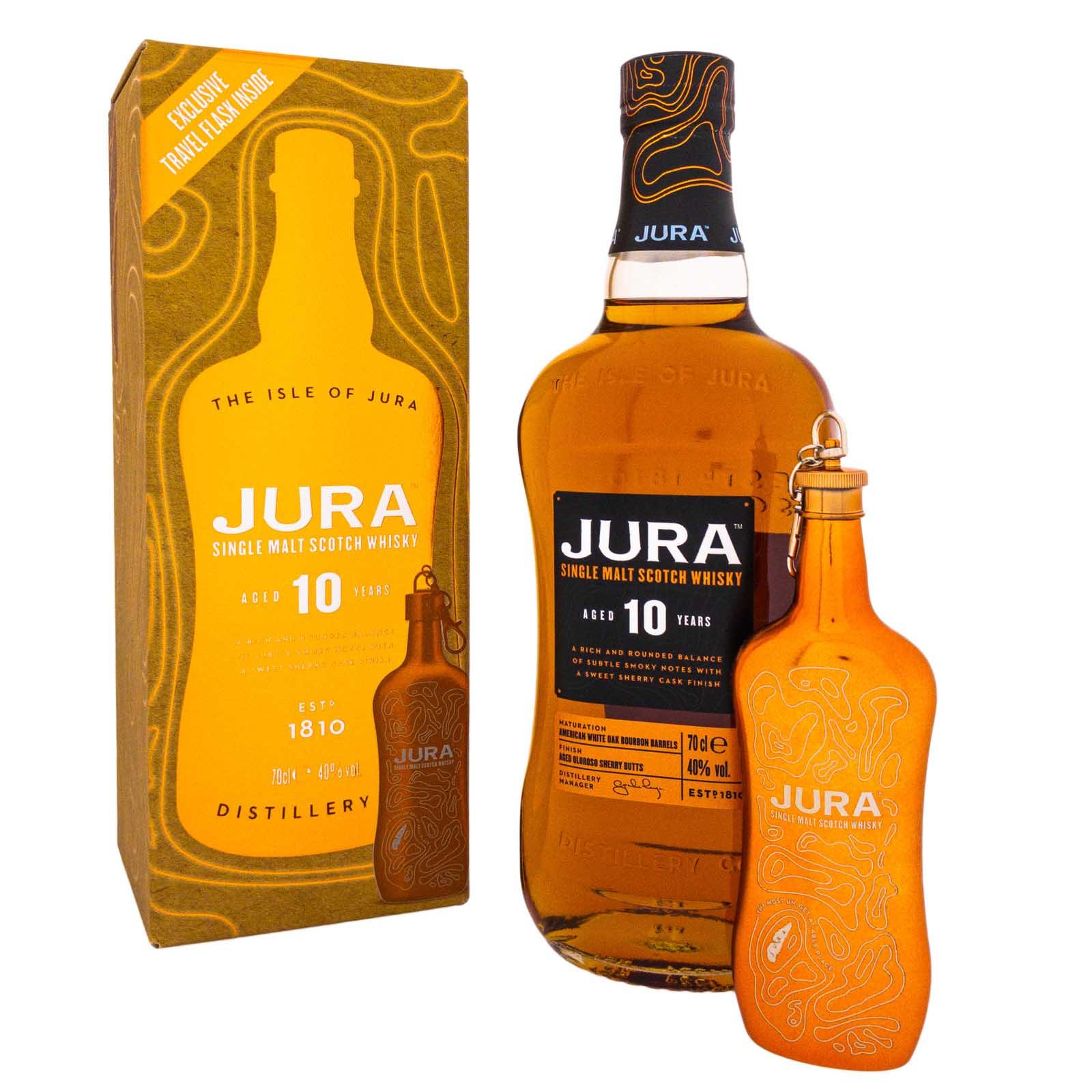 Isle of Jura 10YO Origin mit Hipflask