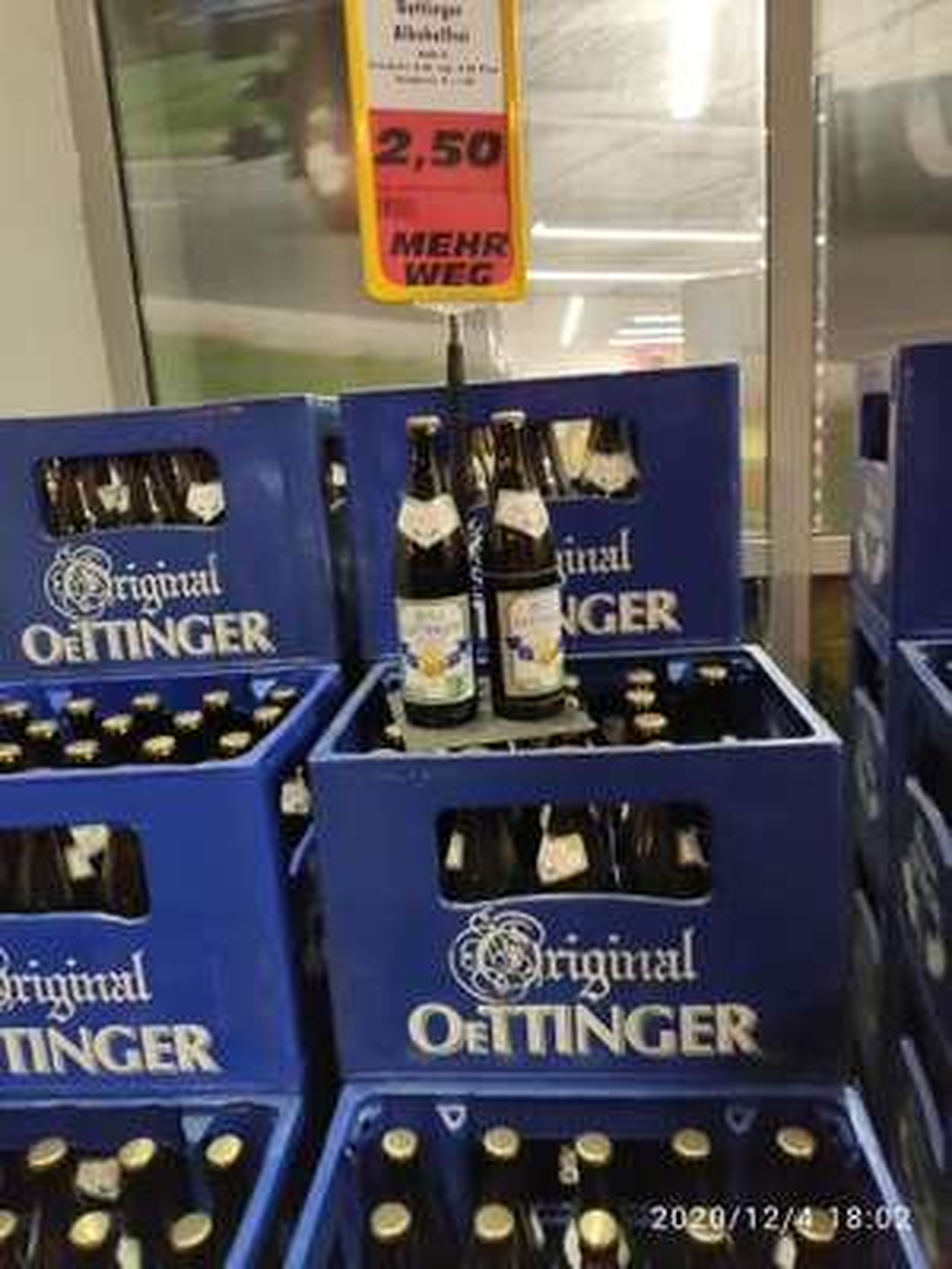 Lokal (Essen, NRW): Kasten Oettinger alkoholfrei für 2,50€ bei Trinkgut