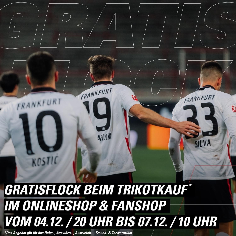 [Eintracht Frankfurt] Flock bei Kauf des Trikots gratis