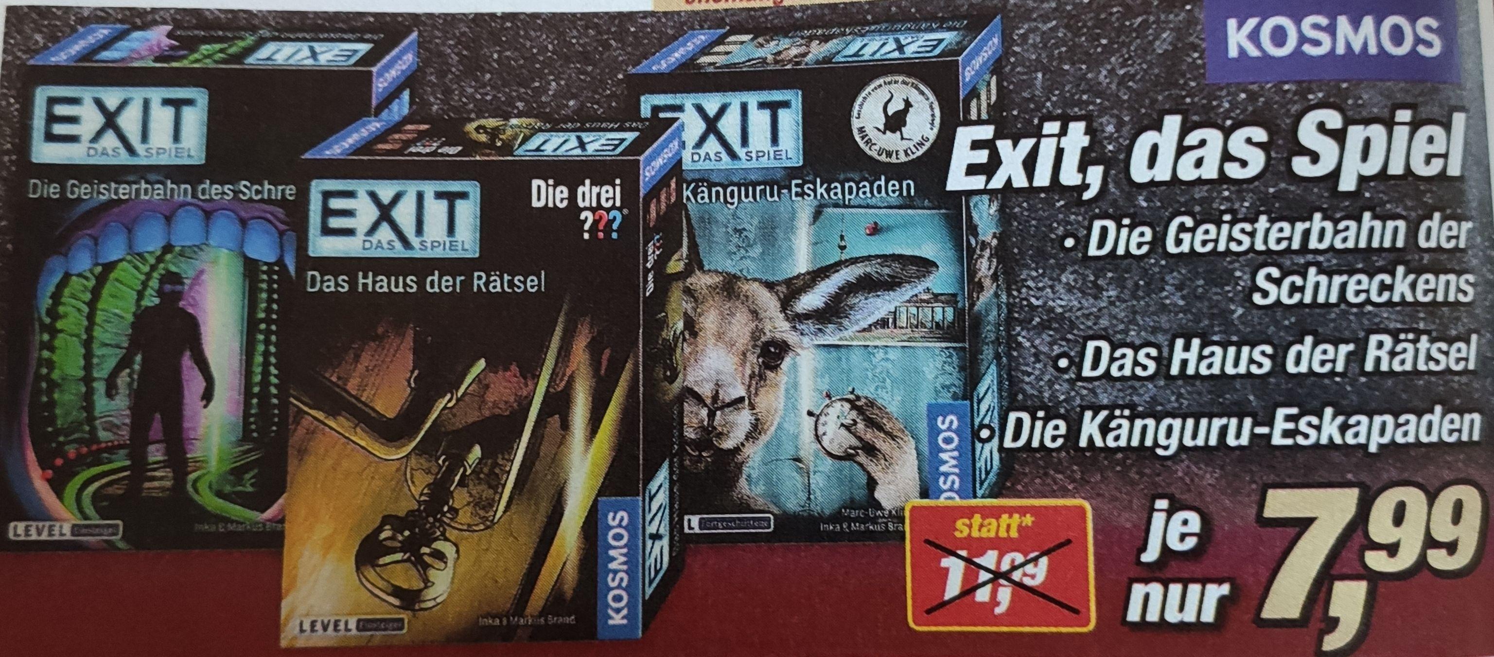 [Lokal Niedersachsen] Exit Spiele von Kosmos