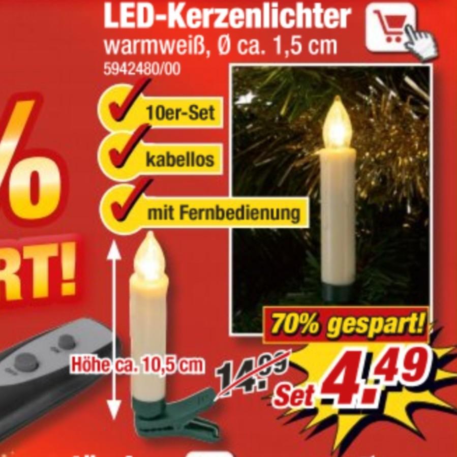 Offline / POCO 10 LED Kerzenlichter kabellos mit Fernbedienung