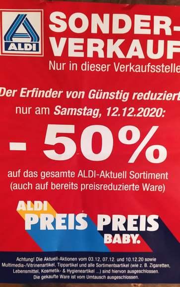 Lokal - Bremen, Aldi, Wallecenter 50%