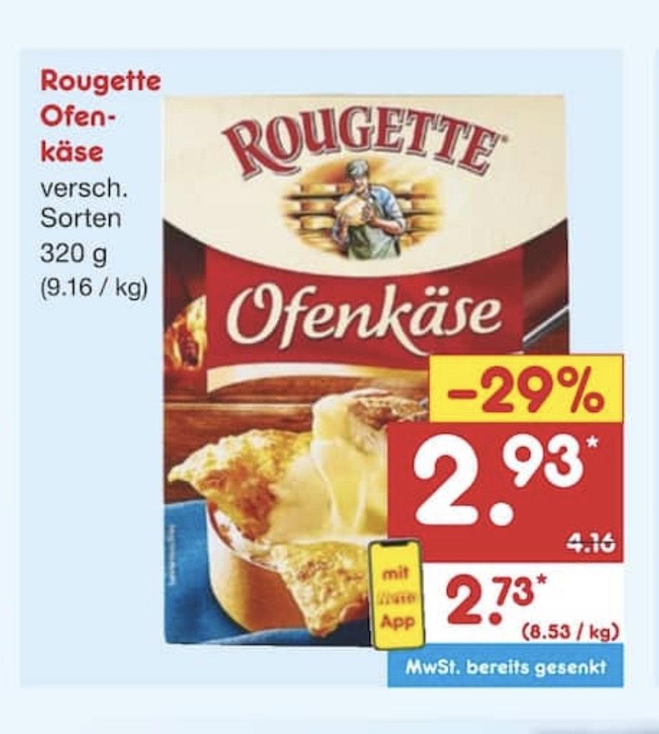 Rougette Ofenkäse 320g per Netto App für 2,73 € bei Netto erhältlich