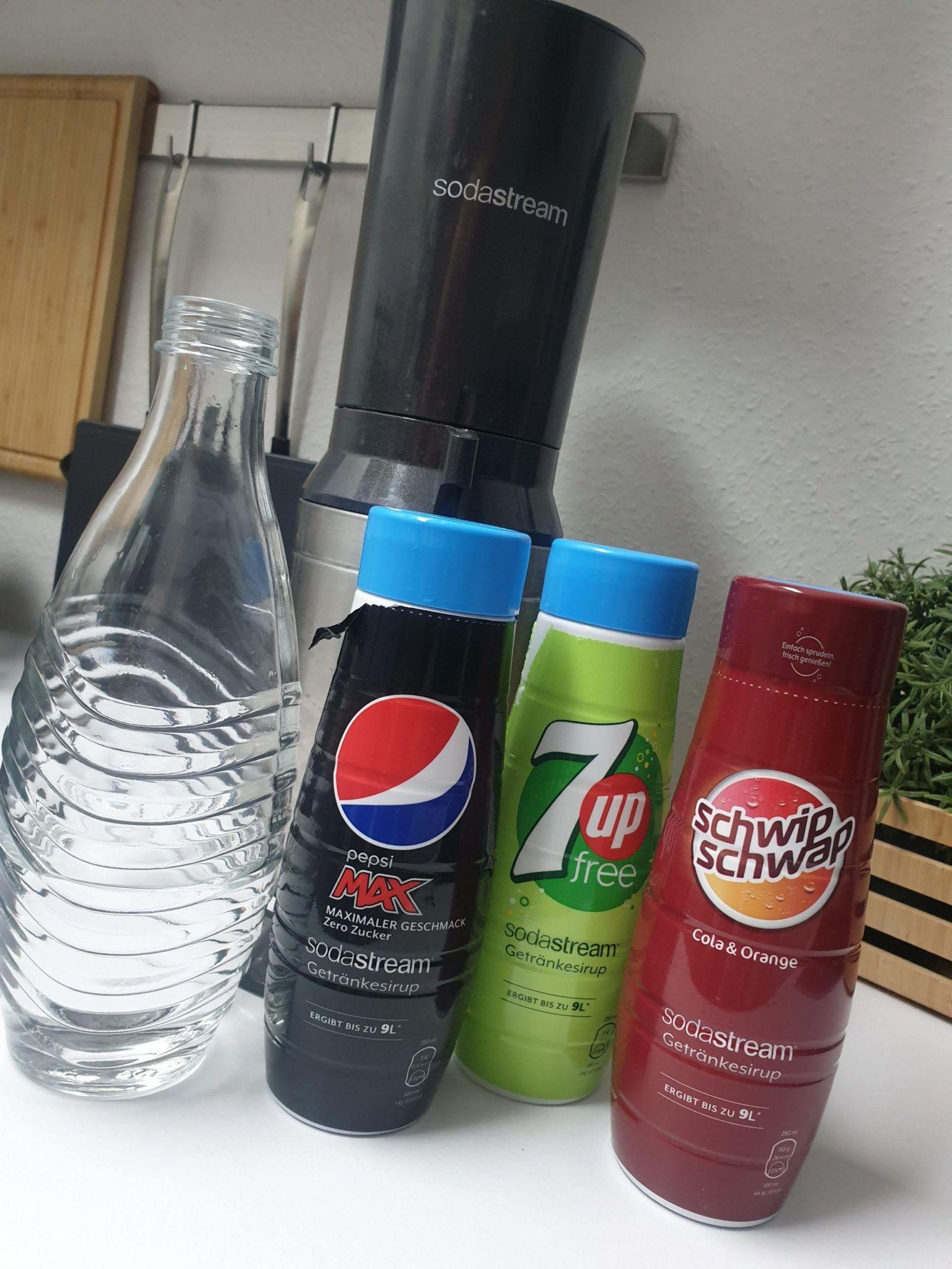 Soda Stream Sirup verschiedene Sorten Pepsi, 7up, Schwip Schwap 440ml
