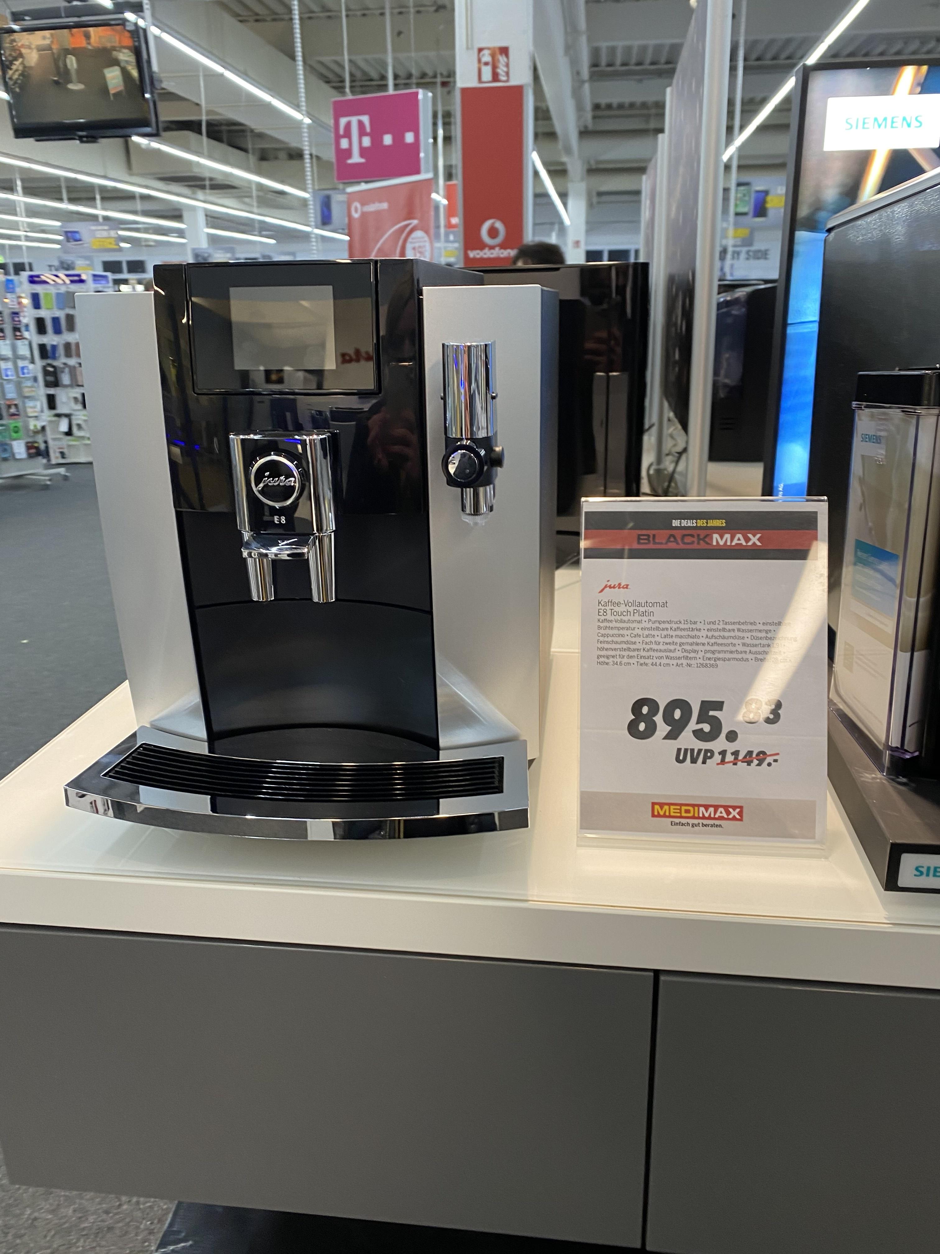 Lokal in Dortmund Kaffeevollautomat Jura E8 Touch Platin