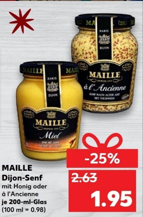 [Kaufland Do-Mi] Maille Dijon Senf 200ml verschiedene Sorten wie z.b Honig für 1,95€