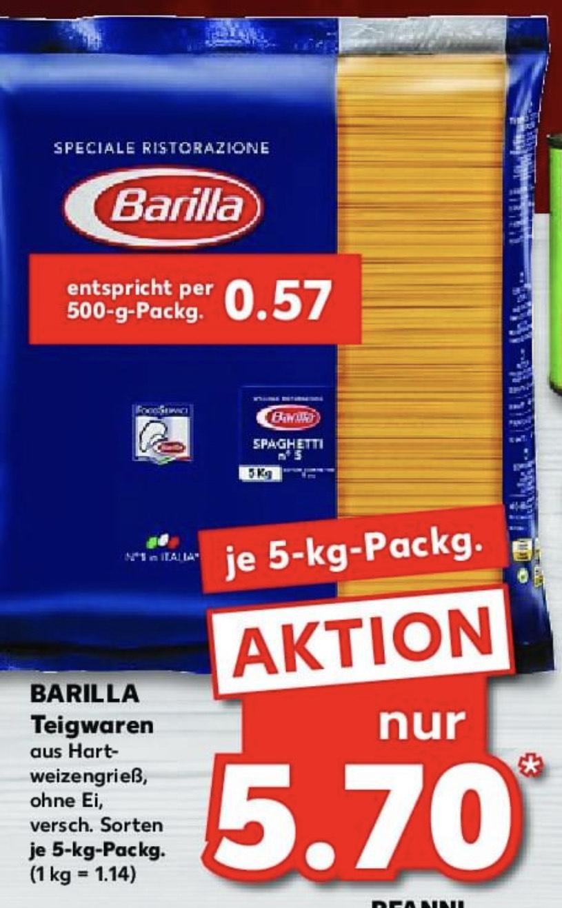 [Barilla] 5kg Barilla Nudeln - versch. Sorten für 5.70€