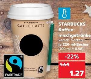 [Kaufland Do-Mi] Starbucks Chilled Classic versch. Sorten mit Coupon für 0,57€