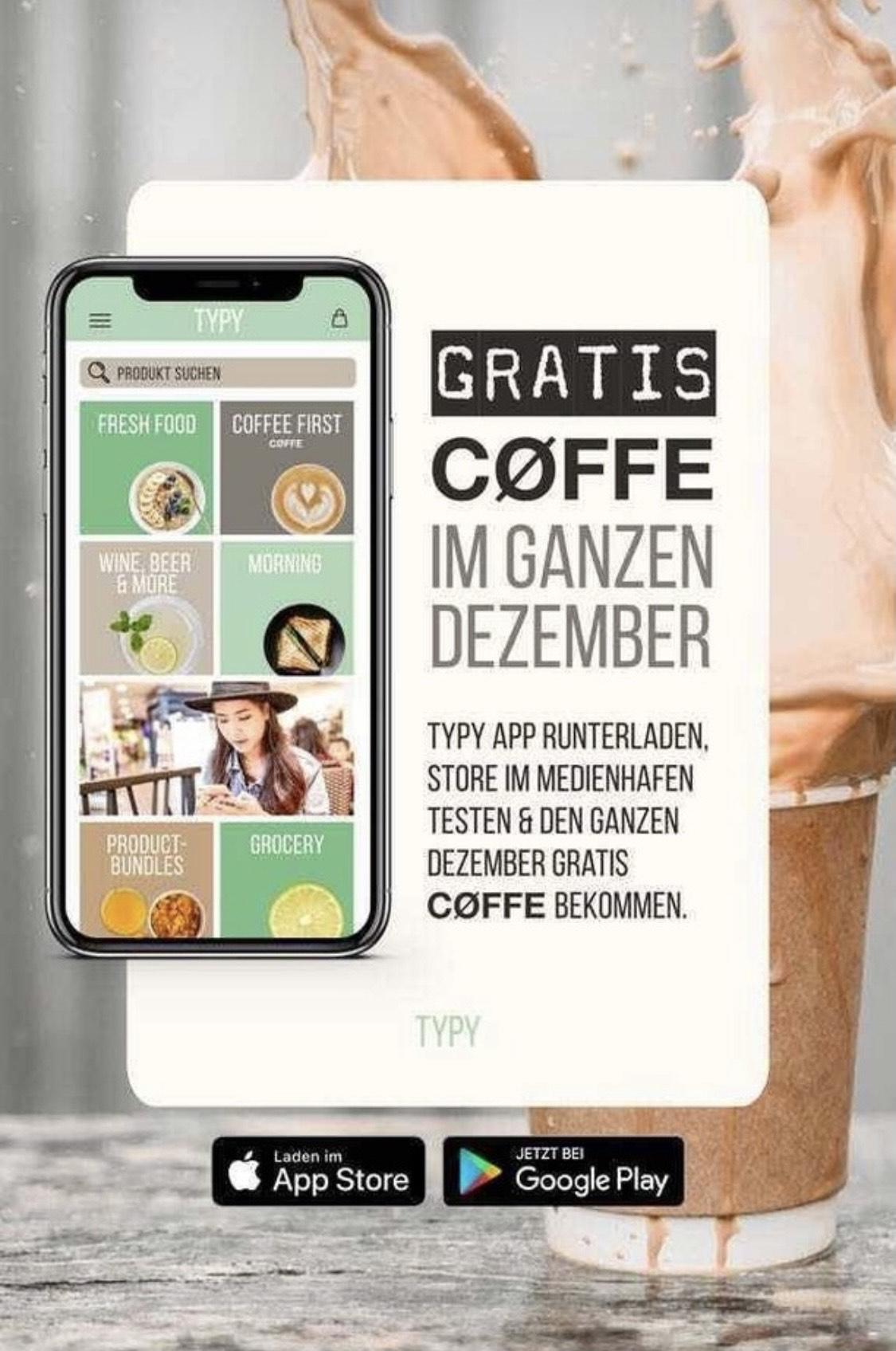 [Lokal Düsseldorf] Im Dezember täglich 1 Kaffee gratis im Medienhafen