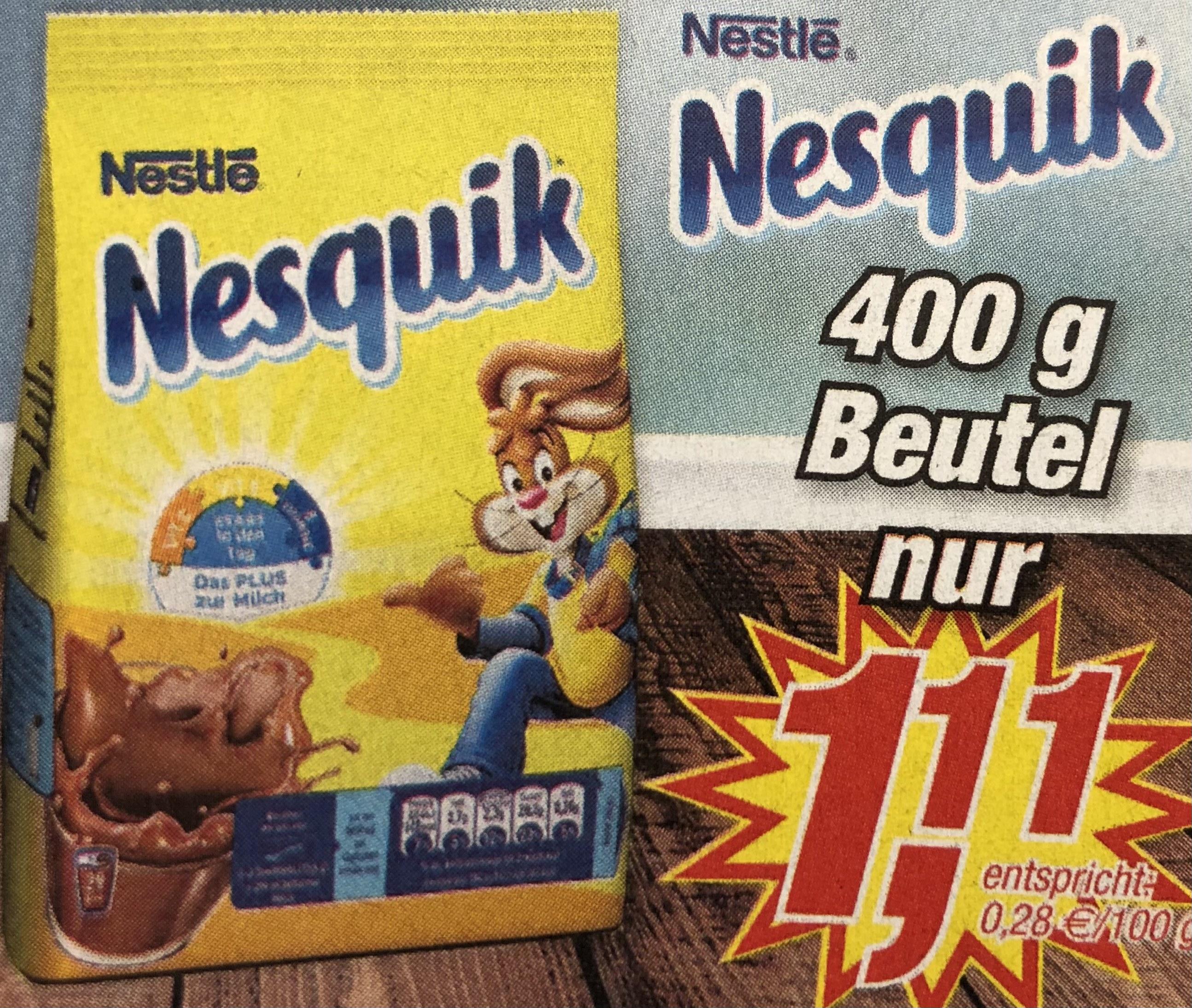 [Posten Börse] Nestle Nesquik Kakaopulver 400g (Bestpreis)