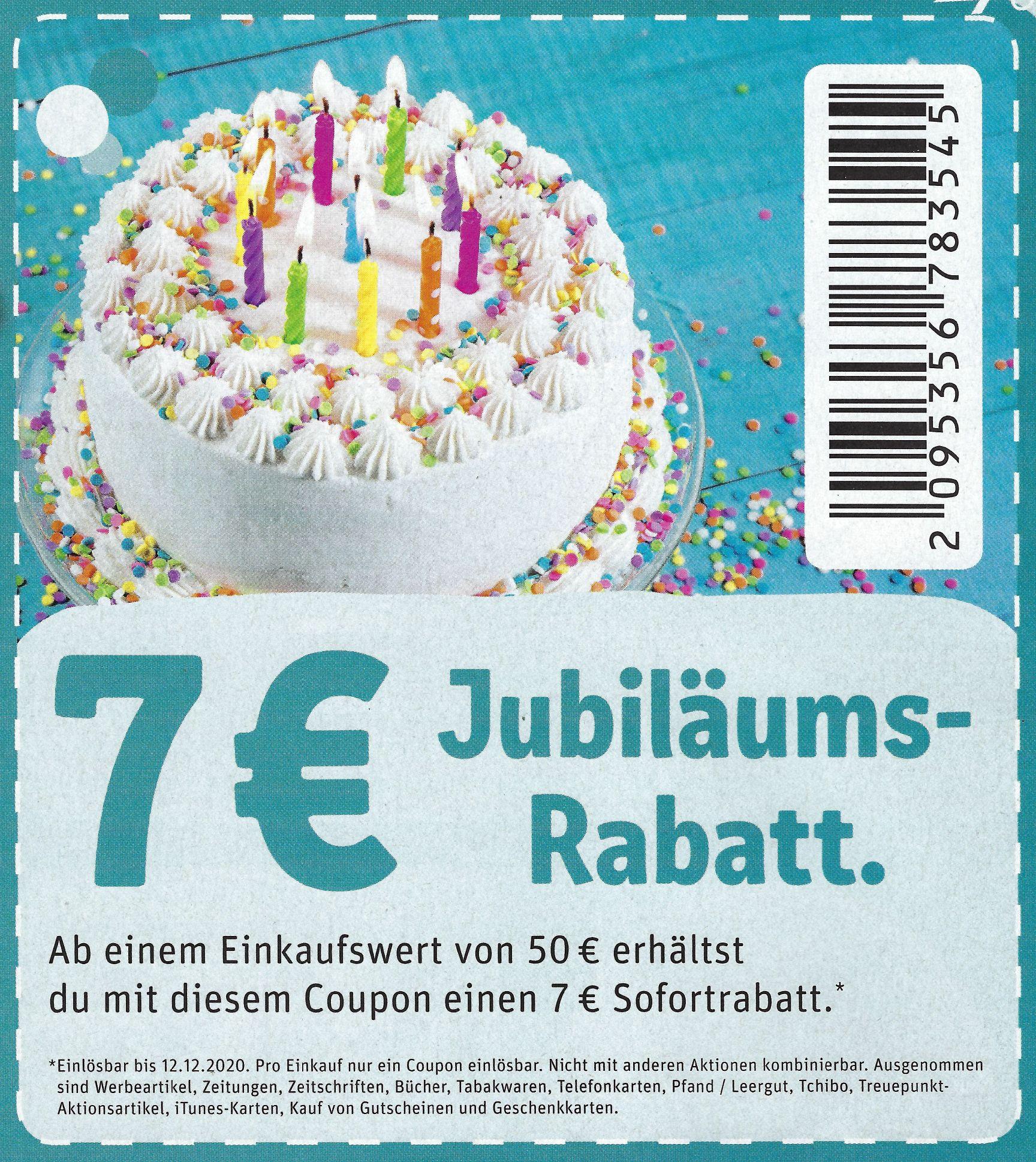 [Lokal Rewe Freiburg & Lörrach] 7€ Jubiläums-Rabatt ab 50€ MEW