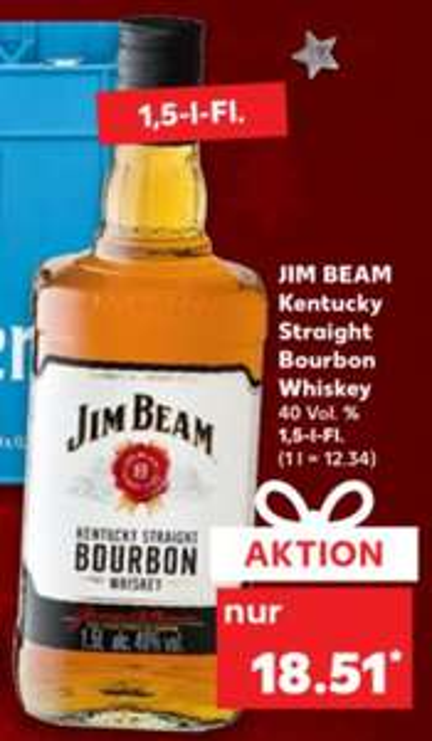 [Kaufland] Jim Beam Kentucky Straight Bourbon Whiskey 40%1,5l