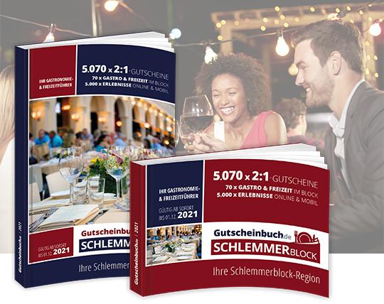 Gutscheinbuch / Schlemmerblock 6 Stück für 64,50 / 10,75€/Buch