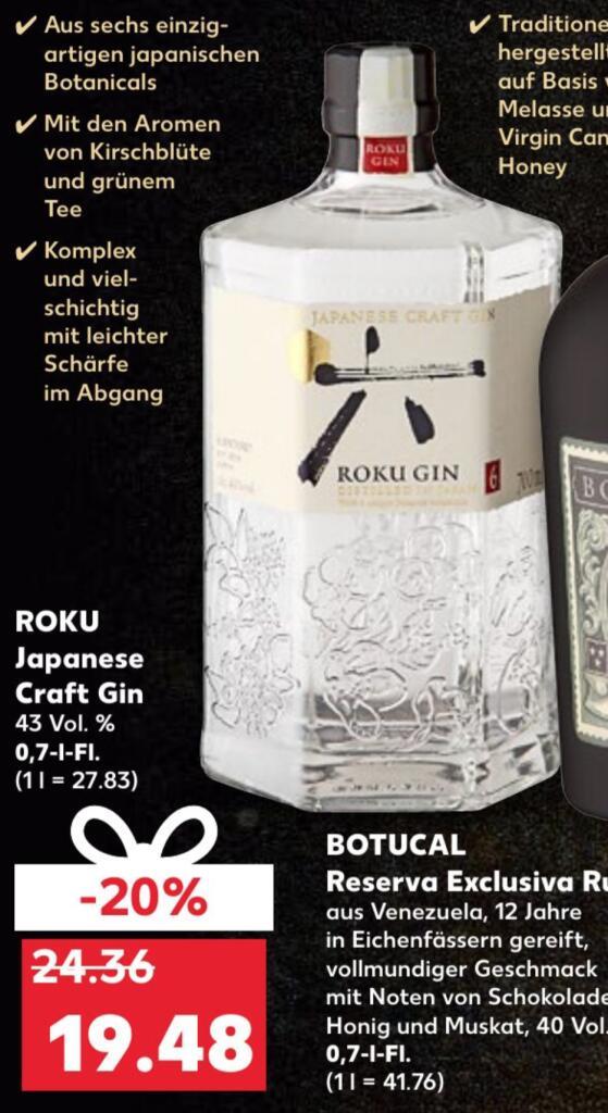 [KAUFLAND] Roku Japanese Craft Gin 43% (1 x 0,7l)