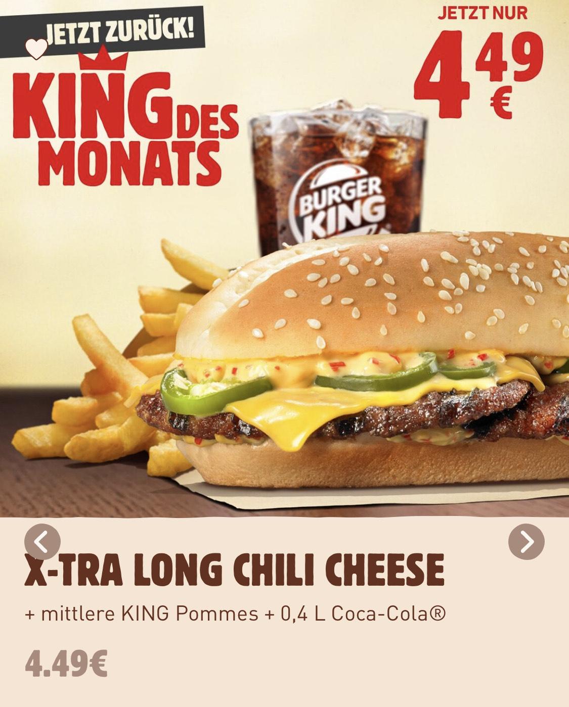 Lokal? - King des Monats X-Tra Long Chili Cheese (ausgewählte Restaurants / Bremen)
