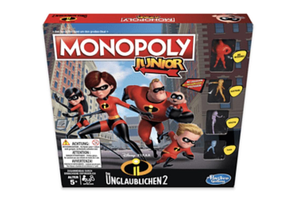 HASBRO GAMING Monopoly Junior Die Unglaublichen Gesellschaftsspiel Mehrfarbig