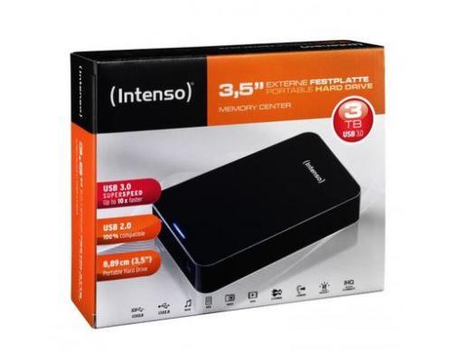 "Intenso™ - 3.5"" Externe Festplatte ""Memory Center"" 3TB (USB 3.0) für €98,10 [@MeinPaket.de]"