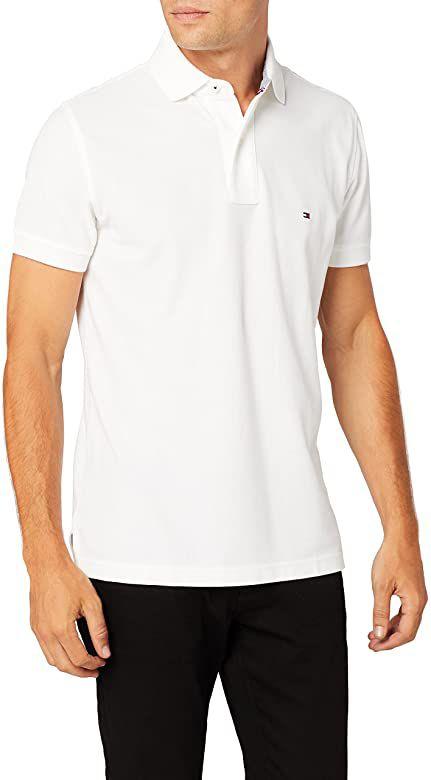 Tommy Hilfiger Herren Core Hilfiger Regular Poloshirt Weiß Größe L