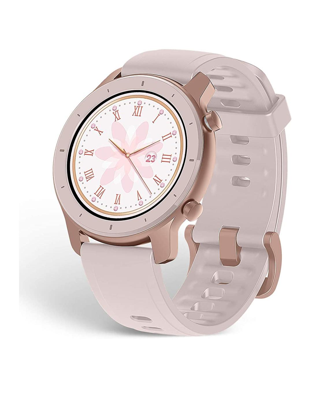 Amazfit Smartwatch GTR 42mm 1,2 Zoll Touch Control Farbdisplay Sportuhr Fitness Armbanduhr 5 ATM wasserdicht Amazon Prime