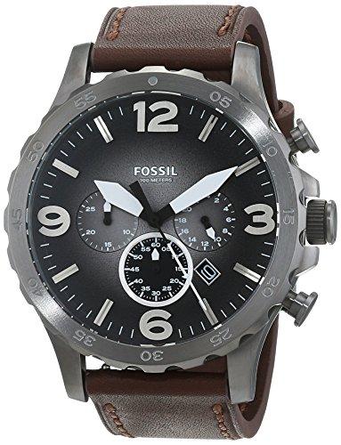 [Amazon.es] Fossil Herren Chronograph Quarz Uhr mit Leder Armband JR1424