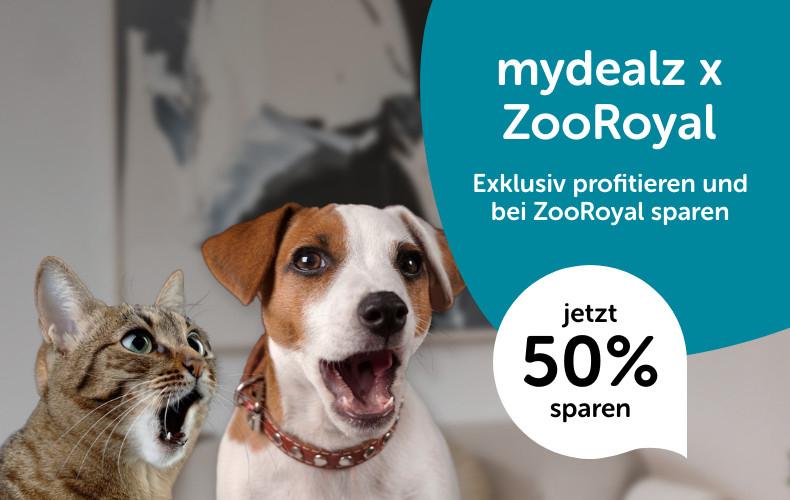 50% Rabatt auf ausgewählte bereits reduzierte Artikel bei ZooRoyal - zB 2-in-1 Liegeplatz in 78 cm x 63 cm für 8,90€ inkl. VSK und mehr