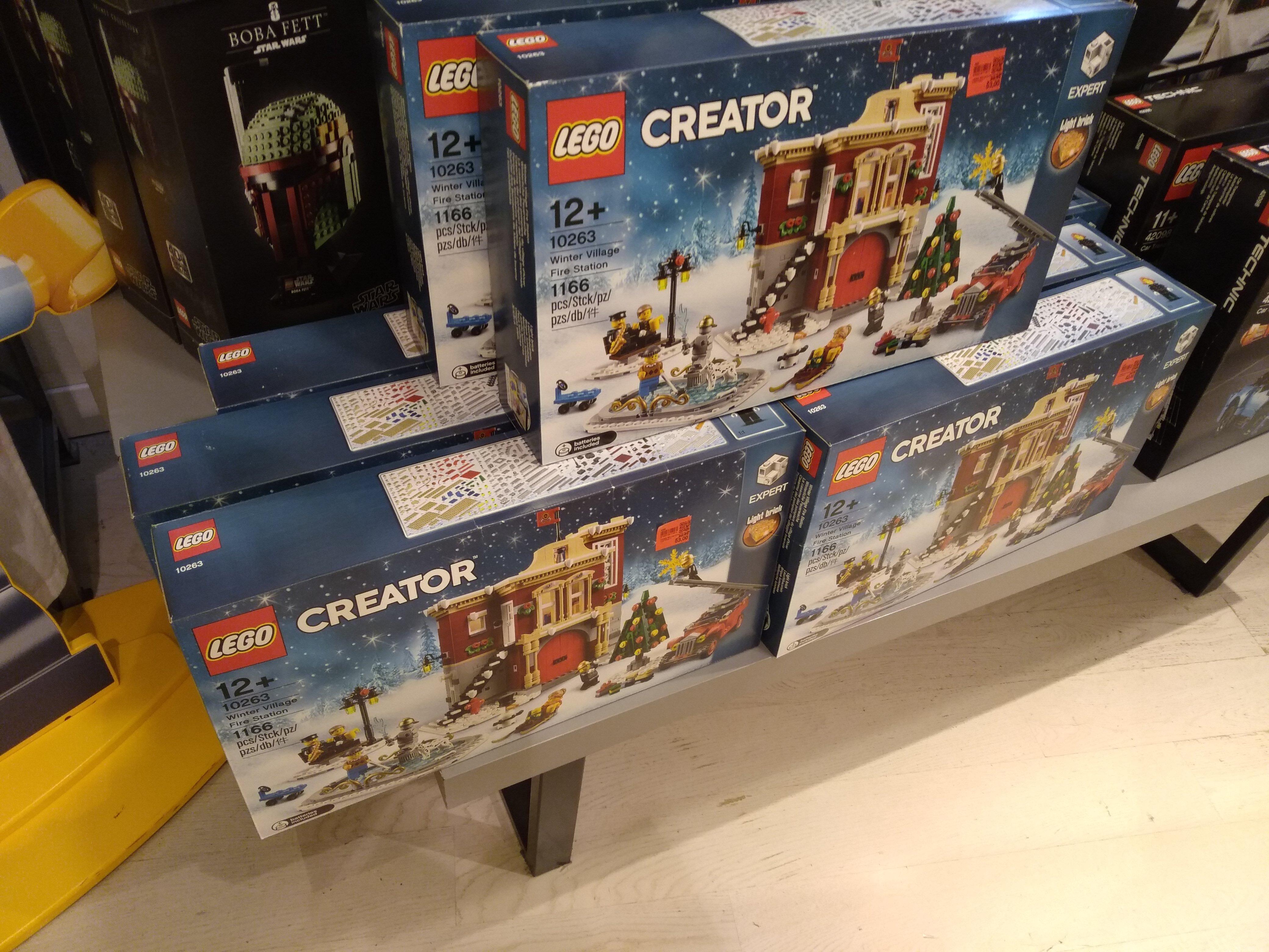 (Lokal Berlin) Lego, winterliche Feuerwache (10263) im KaDeWe