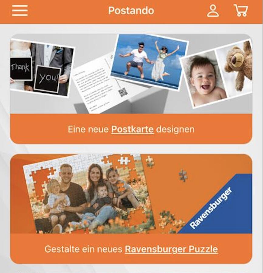 Fotos als Ravensburger Puzzle über Postando App - Weihnachtsgeschenk