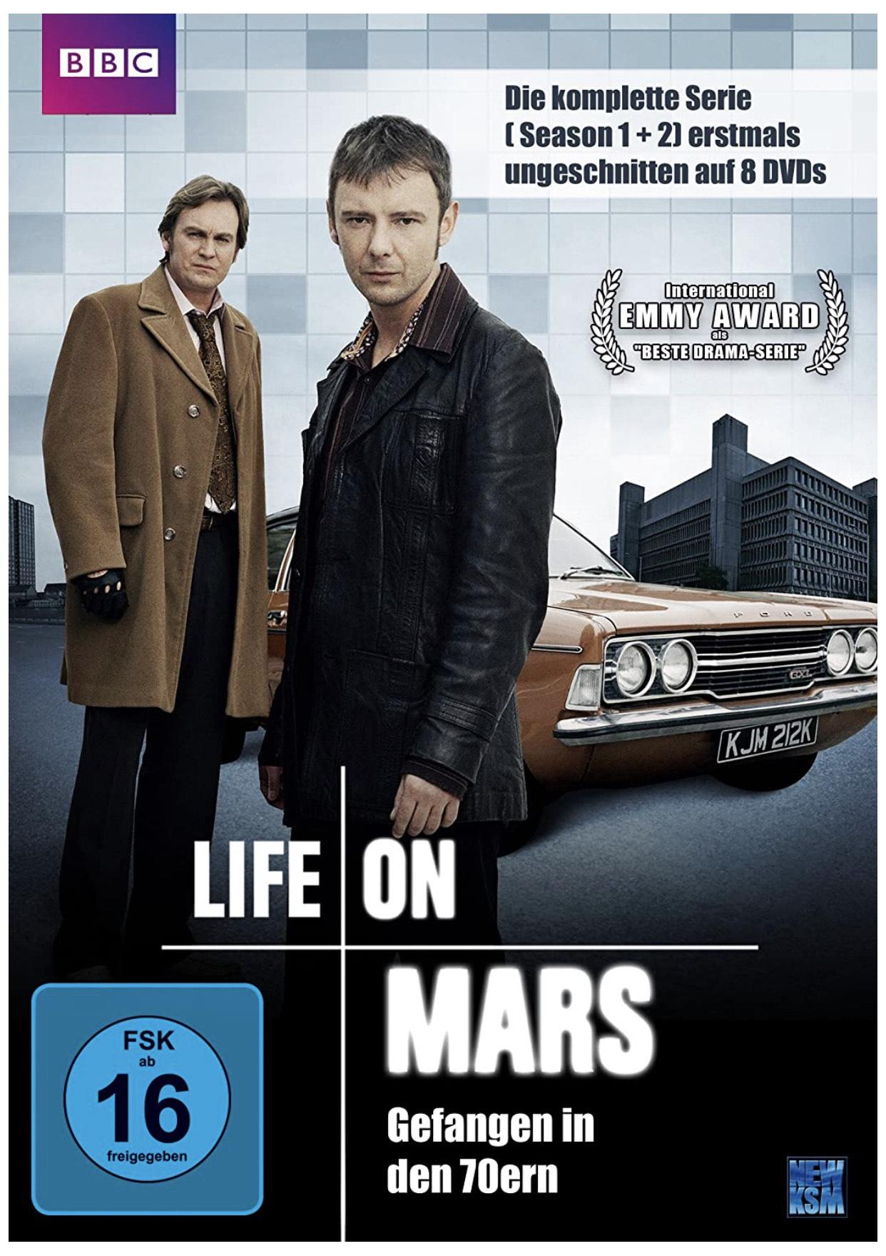 [Prime] BBC: Life on Mars - Gefangen in den 70ern - Die komplette Serie [Uncut   DVD]