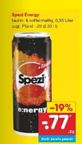 [Netto] Spezi Energy 330ml für je 0,77€