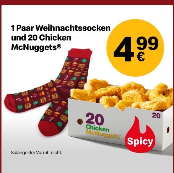 McDonald's 1 paar Weihnachtssocken und 20x Chicken McNuggets