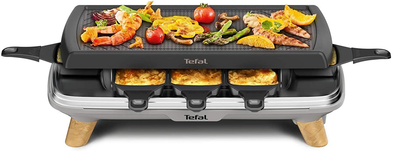 Tefal Raclette Gourmet RE610D, 3 in1 Raclette/Tischgrill/Plancha, tiefe Pfännchen, E-Center/Marktkauf/Scheck-In Center [regional]