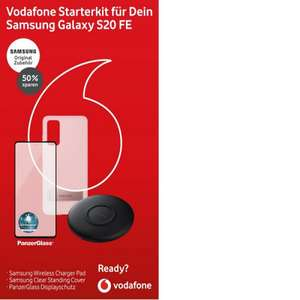 Vodafone Samsung S20FE Starterkit Bestpreis auch Apple und Huawei Sets, QI Wireless Ladepad