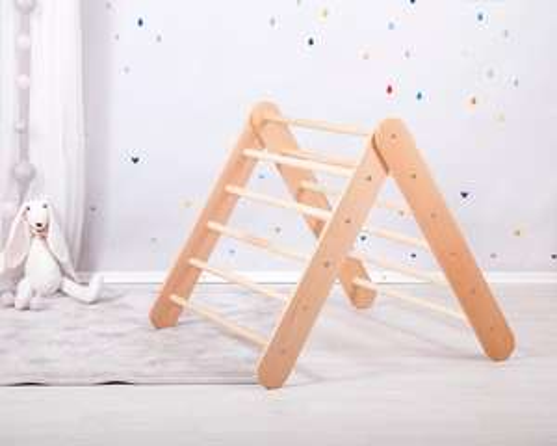 [etsy] Kletterdreieck 2in1 - faltbar oder fest mit einstellbarem Winkel aus Vollmassivholz