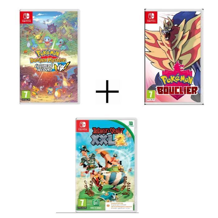 Pokémon: Schild + Pokémon Mystery Dungeon: Retterteam DX + Asterix & Obelix: XXL 2 (Switch) ab 74,99€ (Cdiscount)
