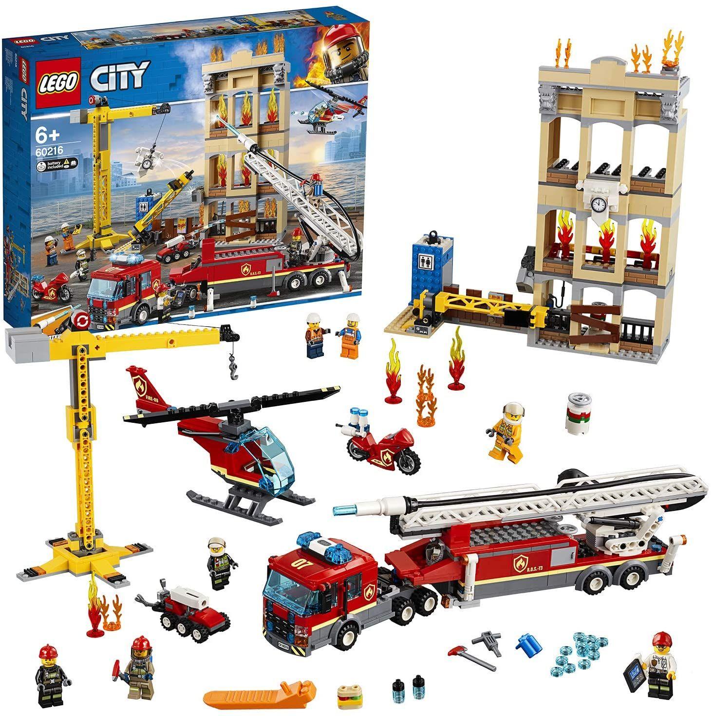 LEGO City Bausatz 60216 Feuerwehr in der Stadt (943 Teile)