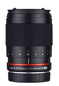 Samyang 300mm F6.3 Objektiv (Canon M, Sony, Micro Four Thirds) für 138,67€ inkl. Versand (Amazon.es)