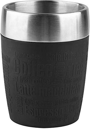 Prime: Emsa 514514 Isolier-Trinkbecher, Mobil genießen, 200 ml, Dreh- Trinkverschluss, Schwarz, Travel Cup