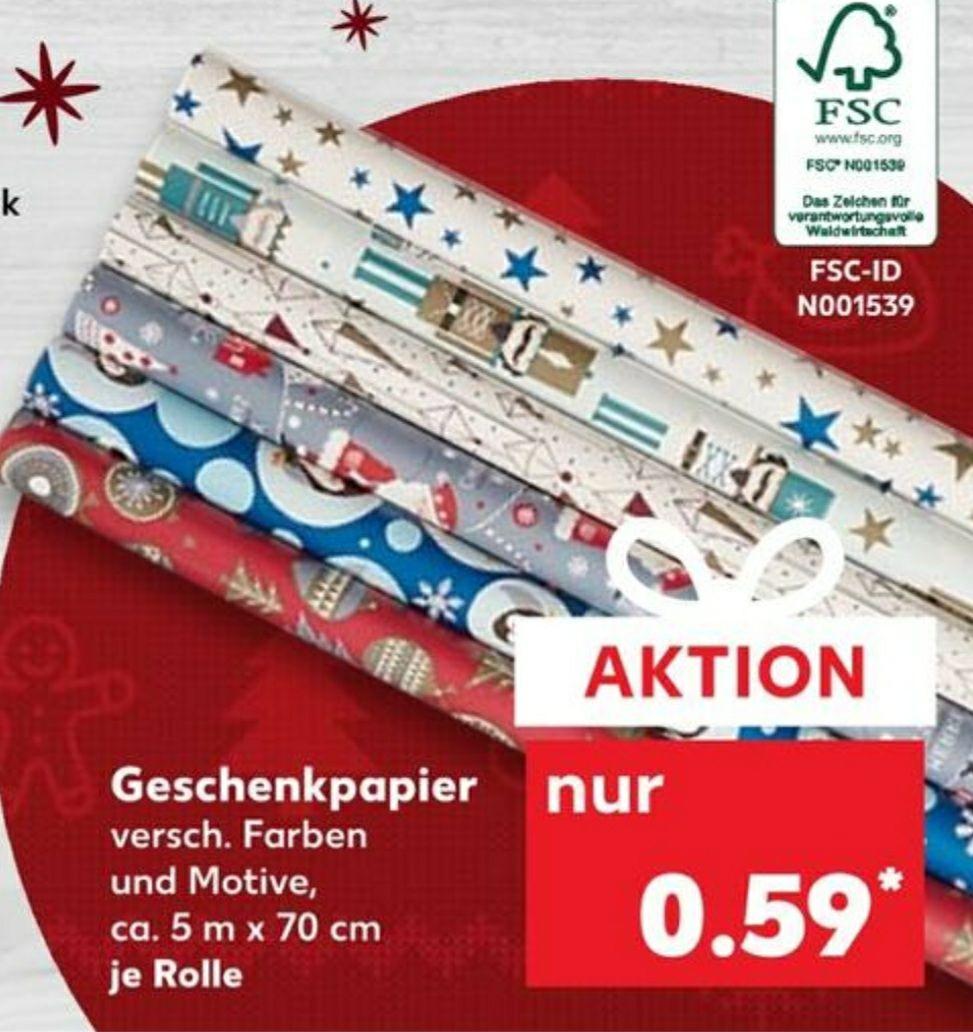 Geschenkpapier 5M x 70CM verschiedene Farben und Motive ab 10.12 Kaufland