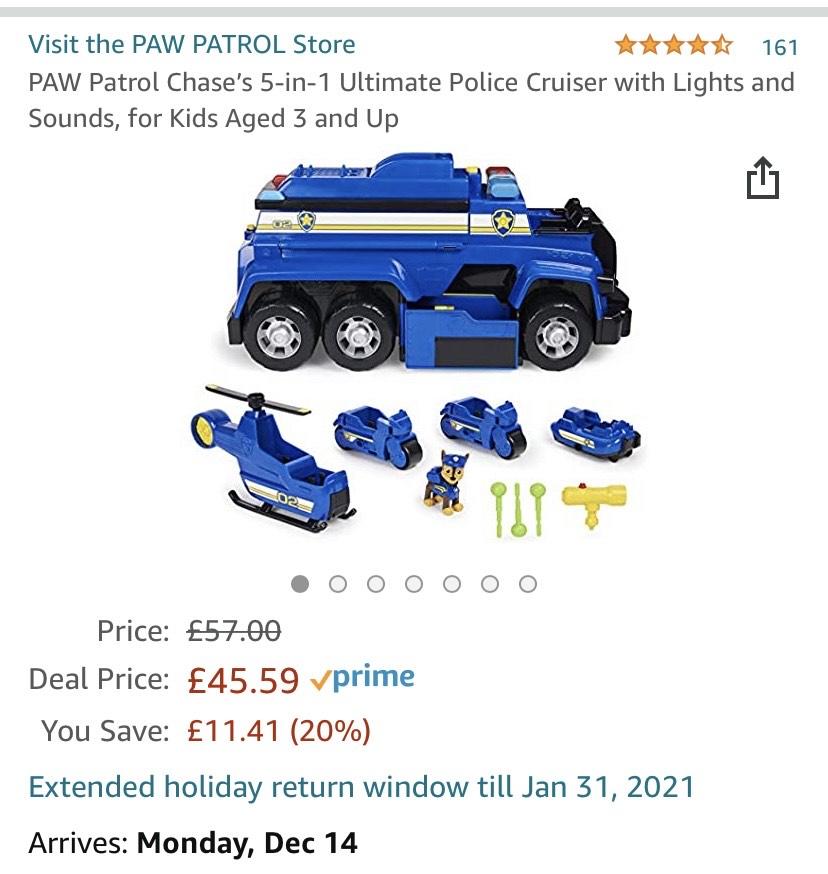 PAW Patrol 6058329 - 5-in-1-Polizeifahrzeug von Chase