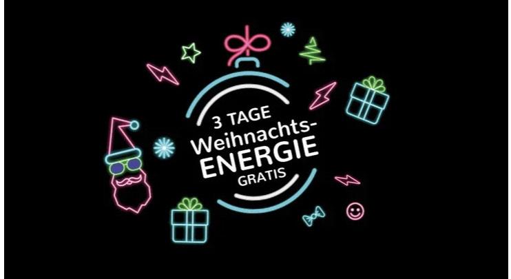 Gratis Weihnachtsenergie über die App - E WIE EINFACH schenkt Strom oder Gas für ganze drei Tage